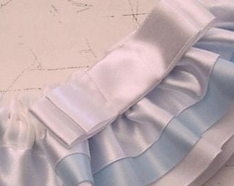 Wedding garter Tailored WEDDING GARTER  2 tone something blue