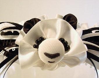 wedding garter PRETTY PANDA a PETERENE original design  or Prom