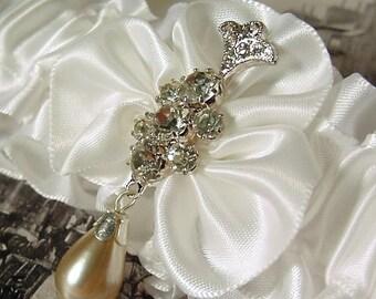 UNE FLEUR CRISTALLINE garter A PETERENE ORIGINAL design Swarovski crystals