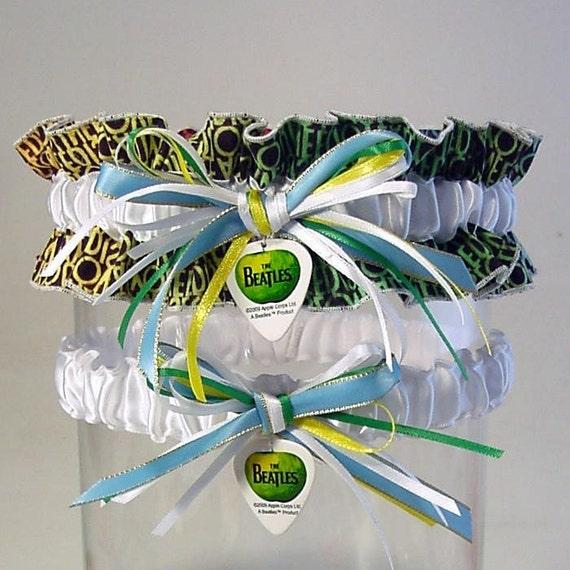 BEATLES garter set  All You Need is LOVE inspired  combo 2