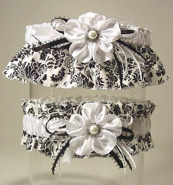 BLACK n WHITE a PETERENE garter set