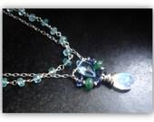 Multi Gemstone Necklace with Moonstone, Iolite, Apatite and Blue Topaz - Eleganze