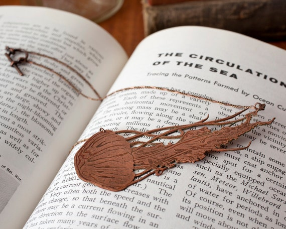 Jellyfish Copper Etched Necklace