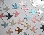 100 Bird or Swallow Cut Outs in Metallic