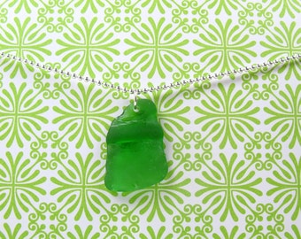 Kelly Green River Rat Necklace