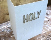 "holy sh""t (gold) letterpress printed card"