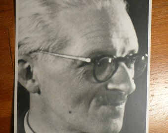 French man with glasses - vintage photo 1950s