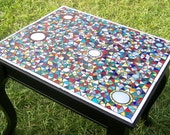 Mosaic Table Colorful Geometric and Very Detailed