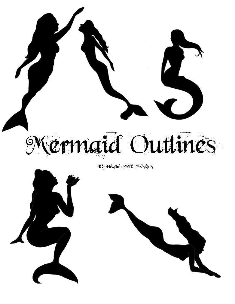 Simple Mermaid Outline Pin Little Tattoo On Pinterest
