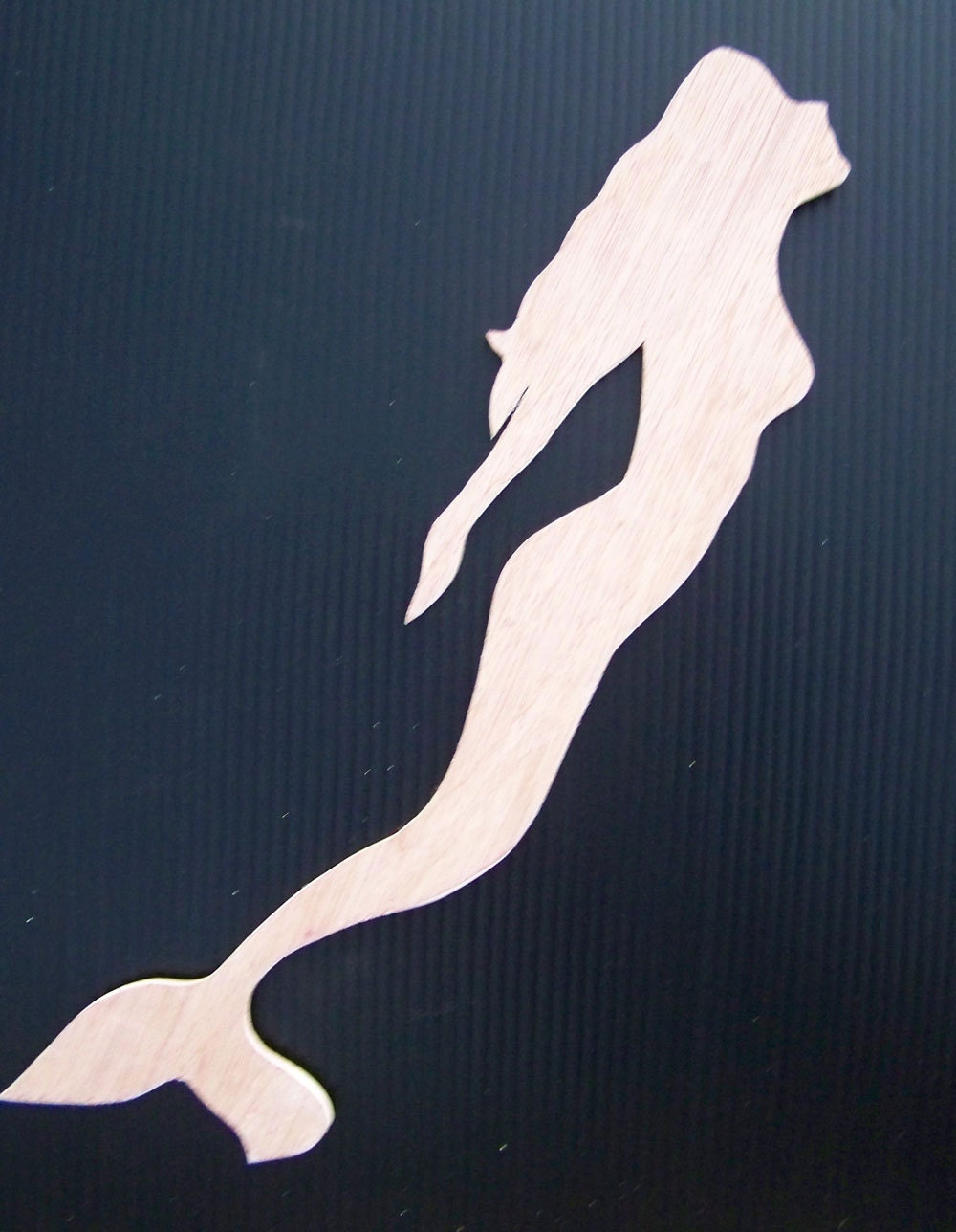 Mermaid Woodie Cut-out 17x4 by HeatherMBC on Etsy