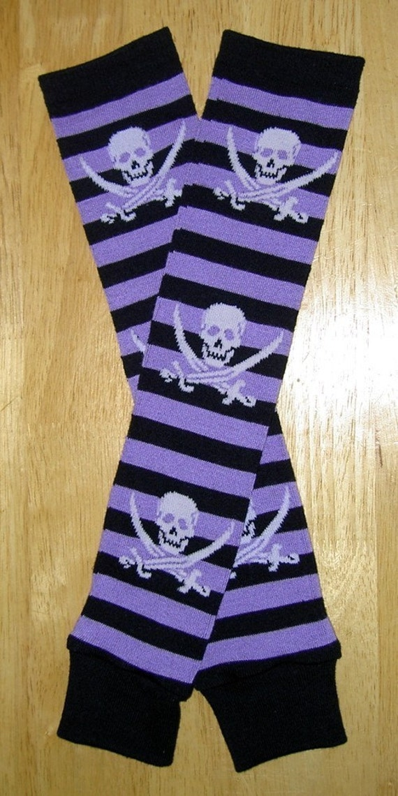 Baby and Me set - Pirate skulls and stripes legwarmers and socks