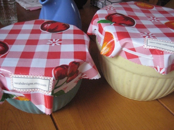 Bowl Covers - Reusable Oil Cloth Covers