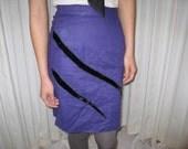 Vintage Slash Linen High Waisted Pencil Skirt