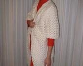 Vintage Crochet Bubble Half-Sleeve Coat