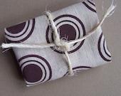 Fabric Scrap - Aubergine Concentric Circle