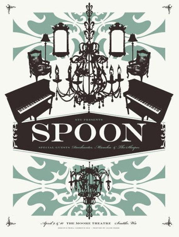 spoon screen print