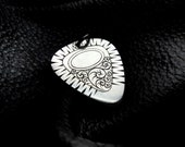 Silver Guitar Pick Personalized Custom with Initials Engraving Fathers Day Graduation