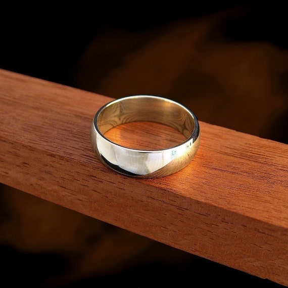 INCLUDES FREE INSIDE RING ENGRAVING - Plain Jane Sterling Silver 6mm Band Ring - It's nice to keep it simple sometimes - Made to custom fit your finger of choice