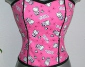 Hello Kitty Corset Top DiY - Juniors Size Large \/ Extra Large