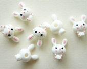 5 pcs 3D Plastic Bunny Cabochon (17mm23mm) DR096 (((LAST)))