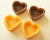4 pcs Heart Shaped Tart Cabochon (32mm) CD189