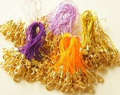 10 pcs Cell Phone Straps with GOLD Lobster Clasp