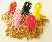 10 pcs Cell Phone Straps with GOLD Lobster Clasp  ((Choose a color ))