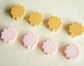 8 pcs Small Sandwich Cookie Cabochon (15mm) CD201