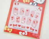 LIMITED Stock Hello Kitty Nail Sticker Sheet / Ribbon Red (((LAST)))