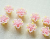 SALE 15 pcs Polymer Clay Rose Cabochon (12mm) Baby PINK FM004 (((LAST)))