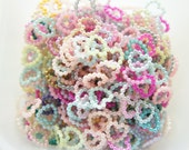 100 pcs Pearly Heart Pearl Flakes/Gems/Rhinestones (11mm)  Mixed Colors