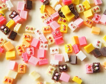 14 pcs Teeny Square Cake Cabochon (5mm7mm) CK017