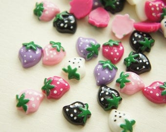 9 pcs Strawberry Cabochon (11mm14mm) FR069 (((LAST)))