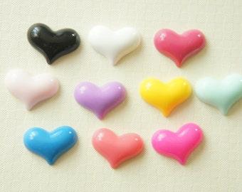 SALE 10 pcs  Heart Cabochon  (14mm20mm) IK078 (((LAST)))
