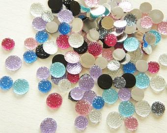Assorted 25pcs Bling Round Rhinestones/Gems (12mm/10 mm) DR272 (((LAST))))