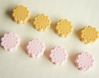 8 pcs Small Sandwich Cookie Cabochon (15mm) CD201