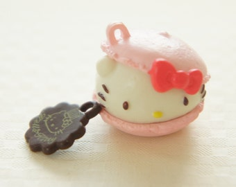 2 pcs Hello Kitty Sweets Charm (25mm27mm) Pink Macaroon (((LAST)))
