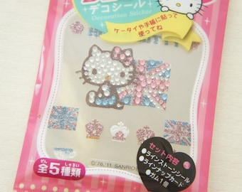 SALE  Hello Kitty DECO Bling Sticker Sheet /Union Jack (((LAST)))