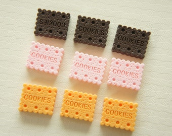 9 pcs Small Square Cookie Cabochon (14mm17mm) CD358