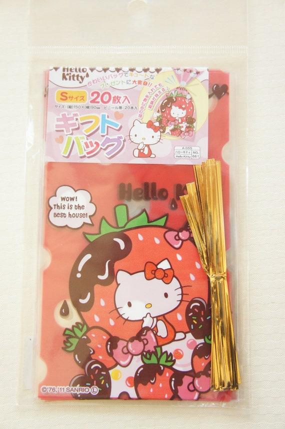 Hello kitty gift bags cm strawberry last no