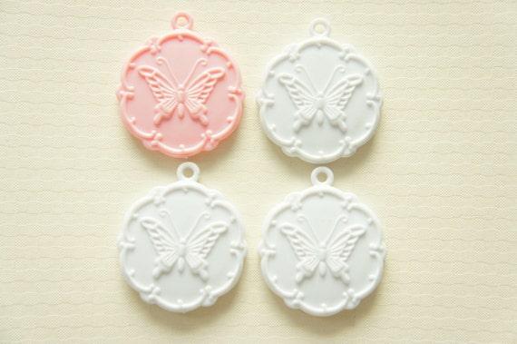 Only One Set B-grade 4 pcs  Princess Style Mirror Charms