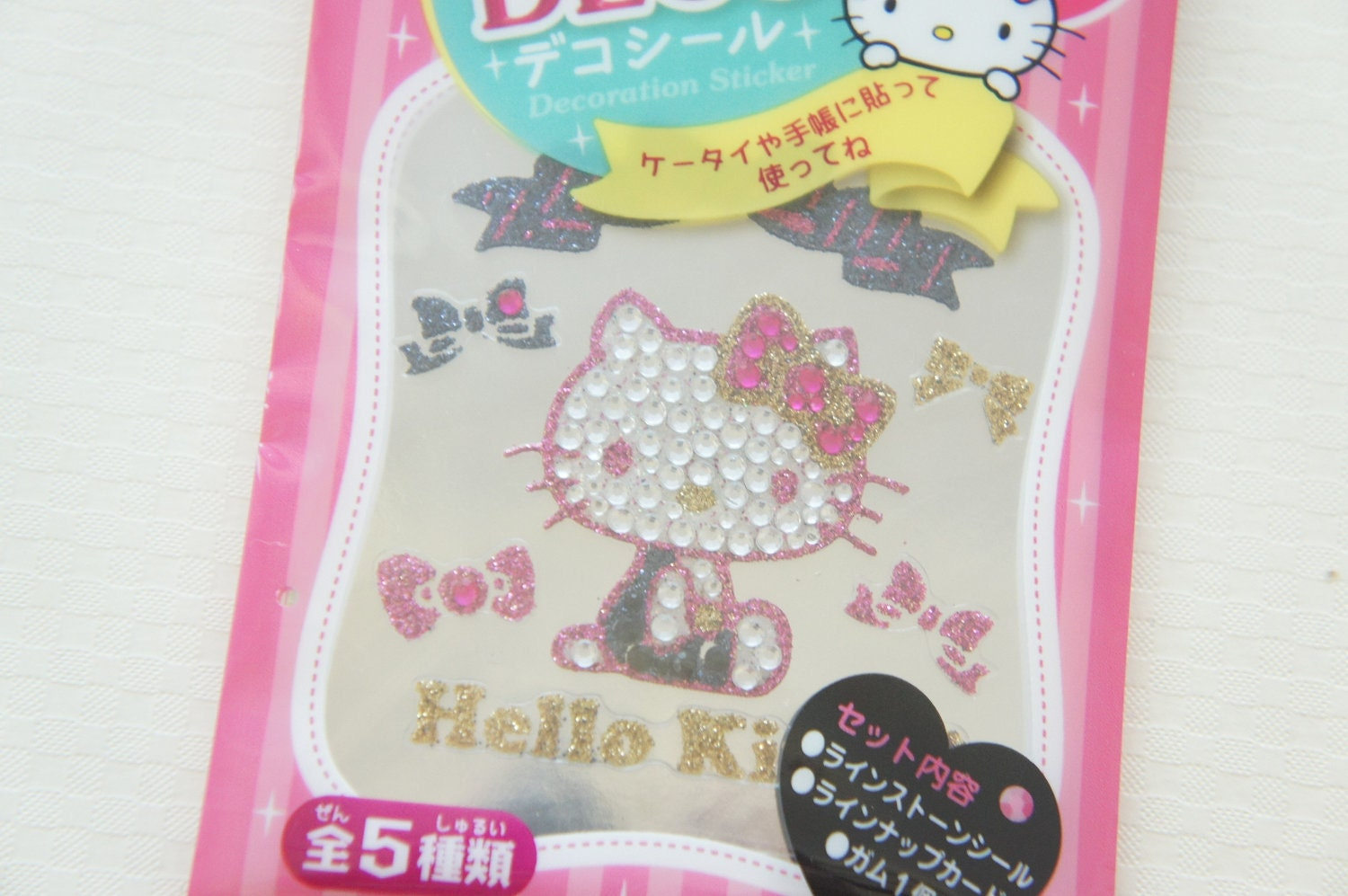 Sale hello kitty deco bling sticker sheet lovely ribbon - Deco chambre hello kitty ...