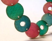 Reserved Order. Translucent Colors. Polymer clay handmade jewelry