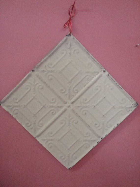 2 antique metal tin ceiling tiles 12 inch by 12 by magpieonmain