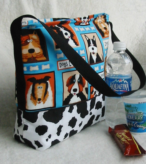 Dogs Rule Insulated Lunch bag tote sack Back to School