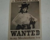 Maidenform WANTED  Badge