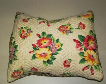 50s Vintage Fabric Pillow