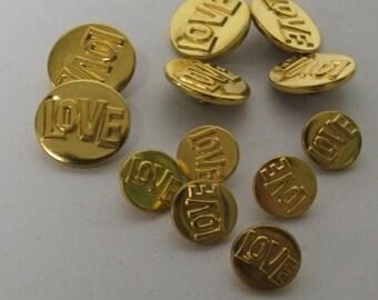 1970s Vintage Love buttons