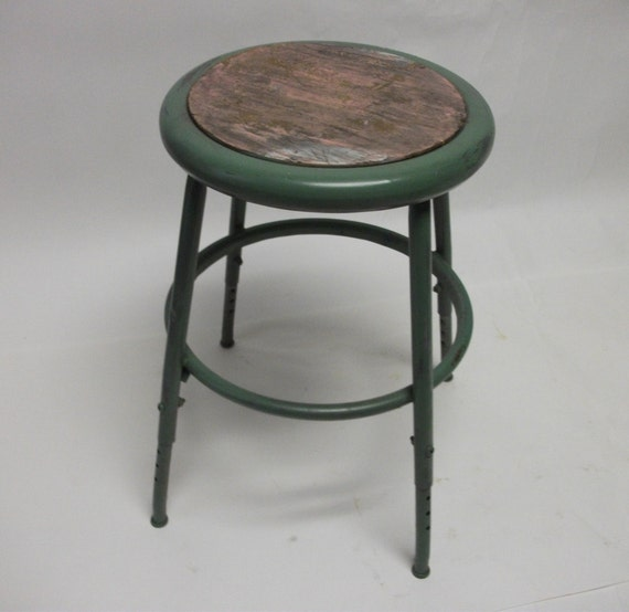 Perfectly Imperfect Vintage Industrial Metal Stool
