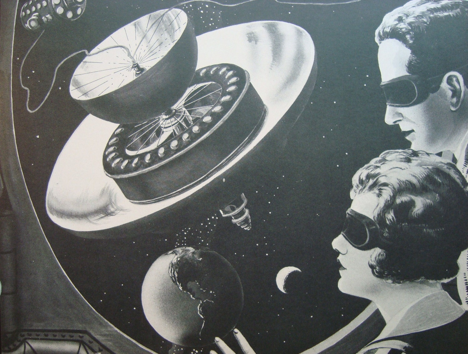 Unavailable listing on etsy for Retro outer space